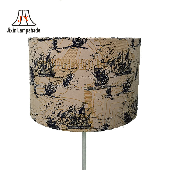 Romantic custom printing fabric wire frames round lampshade