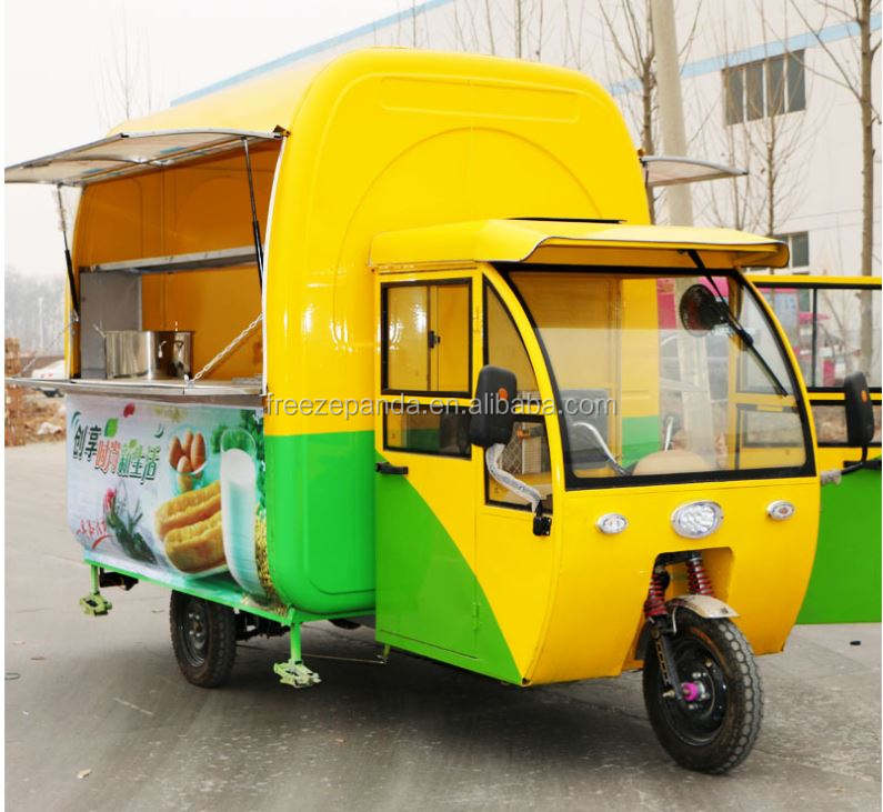 3 wheels electric driven mobile food truck mobile food can Personalized customization