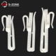 Plastic adjustable curtain hook for hanging curtain fabrics