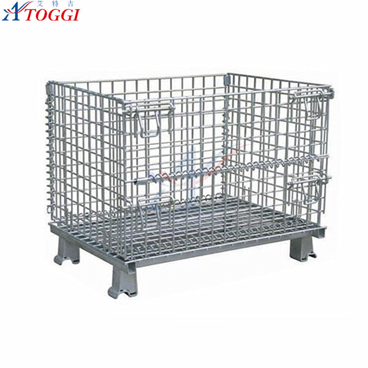 heavy duty foldable wire mesh security cage 800*1200*1000