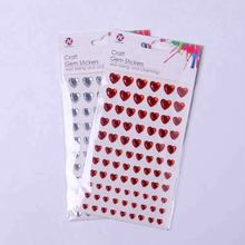 Decorative Self-adhesive Heart Shape sticker Rhinestone crystal Sticker