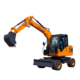 Excavator China Wheel Excavator China Made Cheap Mini Hydraulic Wheel Excavator XN85-9X Digging Machine