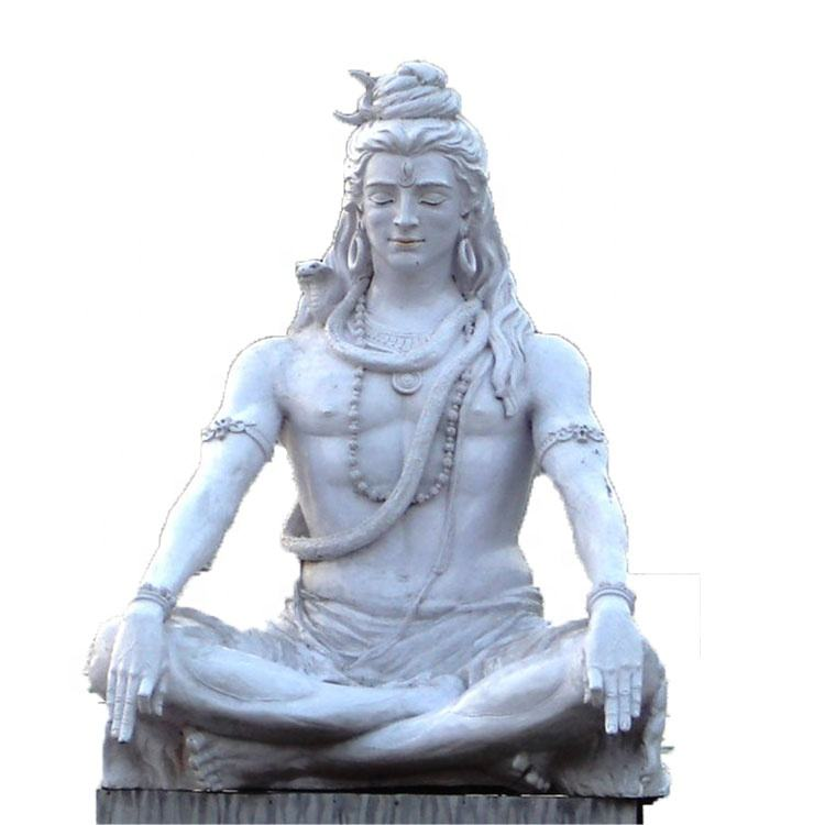 India Marble God Shiva life size statue sculpture