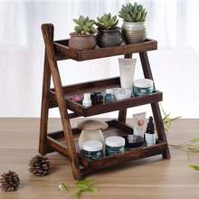 Kitchen Shelf Wood Floor-Standing Kitchen Shelf 3 Layers Spice Rack, Multi-Function Storage Racks Home Living Room