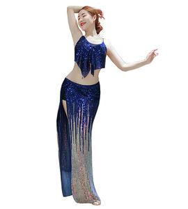 QC3091 Wuchieal Latest Gradient Sequin Cloth Belly Dance Wear