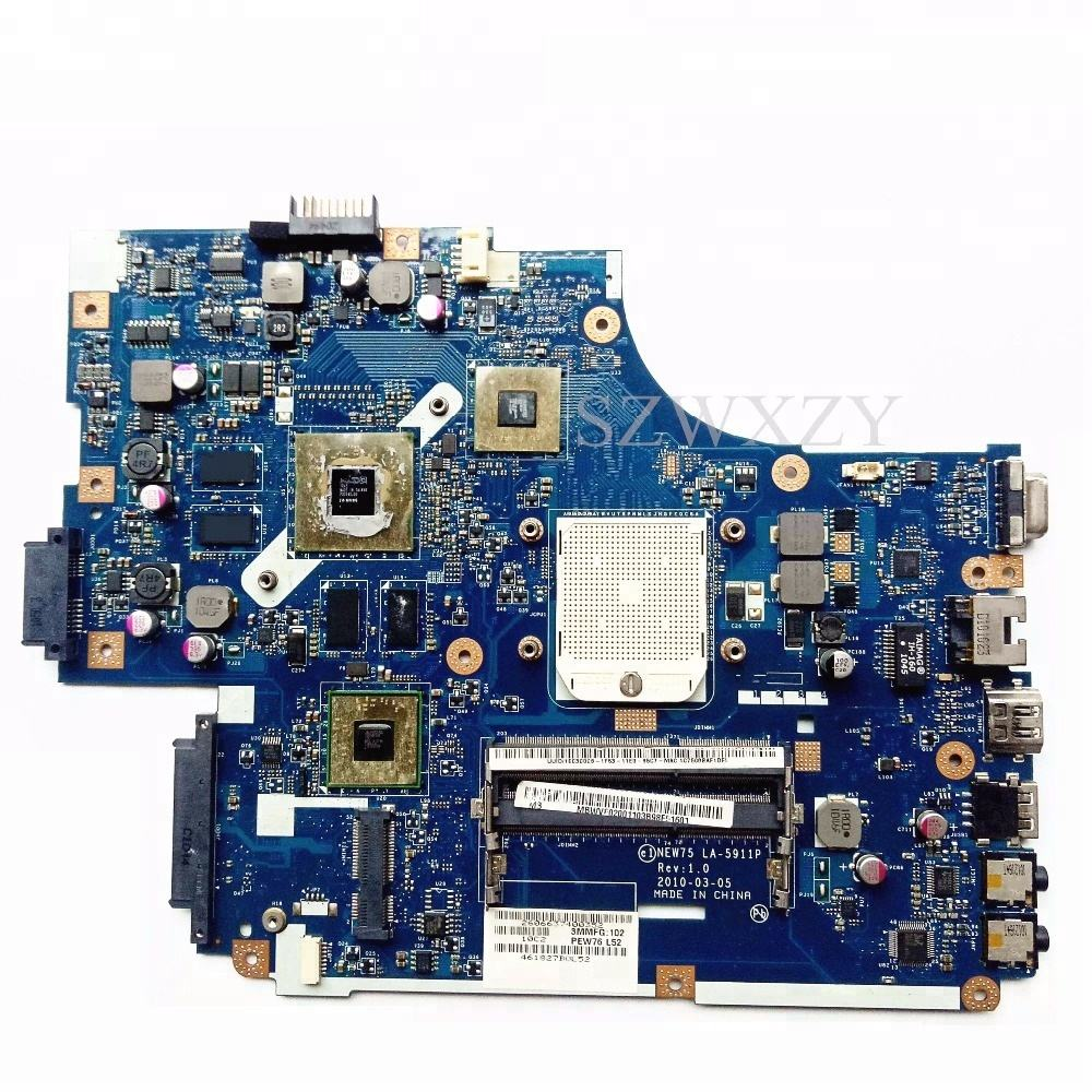 For Acer 5551 5551G 5552 5552G Laptop Motherboard NEW75 LA-5911P MBWVF02001 HD6650M/1GB