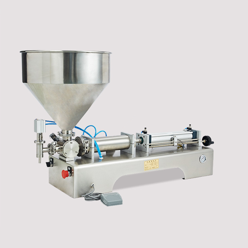 Hot sale pneumatic hand operated jam/cream filling machine 50ml with exported standard