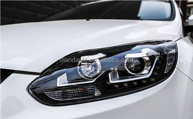 DLAND 2012 FOCUS ANGEL EYE COMPLETE HEADLIGHT V7, WITH LED TEAR EYE AND BI-XENON HID PROJECTOR , FOR FORD