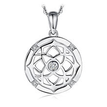 Flora Irish Celtic Knot Cubic Zirconia Pendant 925 Sterling Silver JewelryPalace