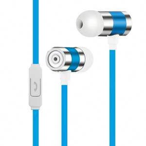 Hot selling deep bass stereo customized color in ear with microphone 3.5mm jack plastic wired earphone earbud