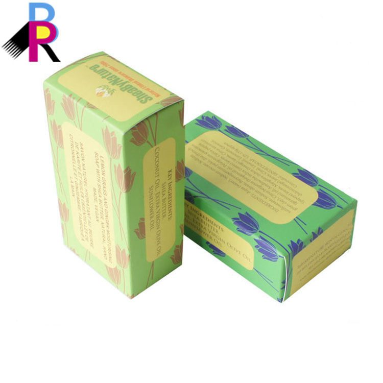 Recyclable Custom PVC window Paper Personal Care soap skincare cosmetics box packaging