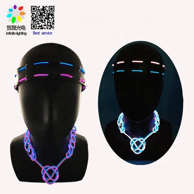 new product ideas 2019 Absorbing el wire flashing choker necklace party Decoration Supplies
