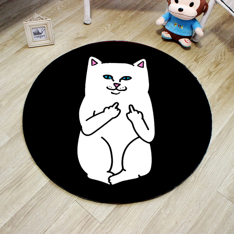 carpet manufacturer custom creative 3D digital cartoon colorful cat printing children floor carpet