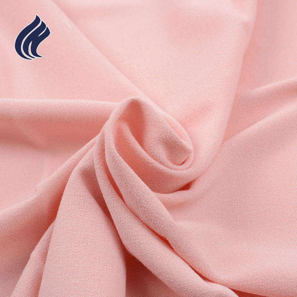 Wholesale comfortable plain dyed rayon polyester spandex woven fabric