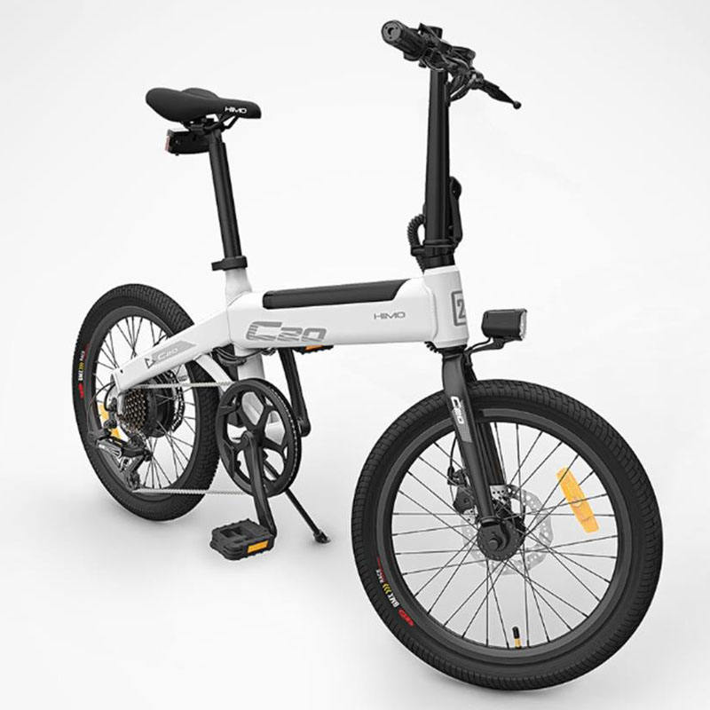 Foldable electric bicycle HIMO C20 36v10ah 250w DC motor city ebike Lightweight electric assist bike Pas range 80km