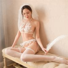 China manufacture high quality lenceria bridal lingerie sexy hot transparent with stockings