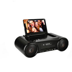 Multimedia portable Karaoke player with wireless connection for camping or family entertainment or party