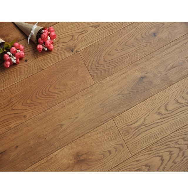Hot !Guangzhou factory cheap price super matte oak engineered flooring smoke wooden floor white oak multiply wood flooring