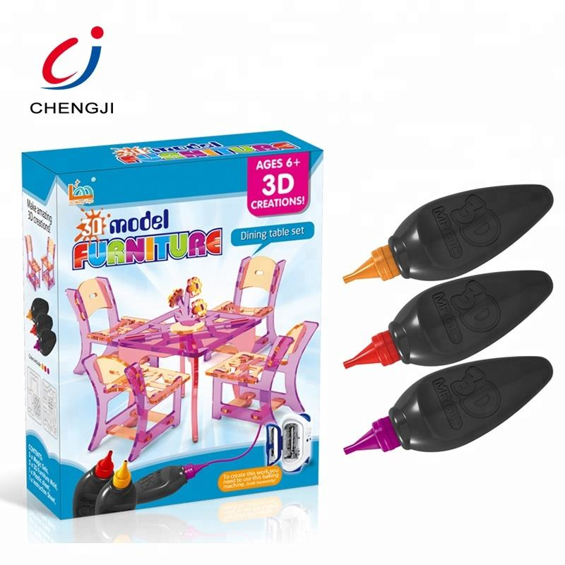 Wholesale intelligence diy colorful plastic furniture printing toy 3d pen for kids