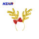 Plush Reindeer Headband Red Christmas deer Antler Headbands With Ears