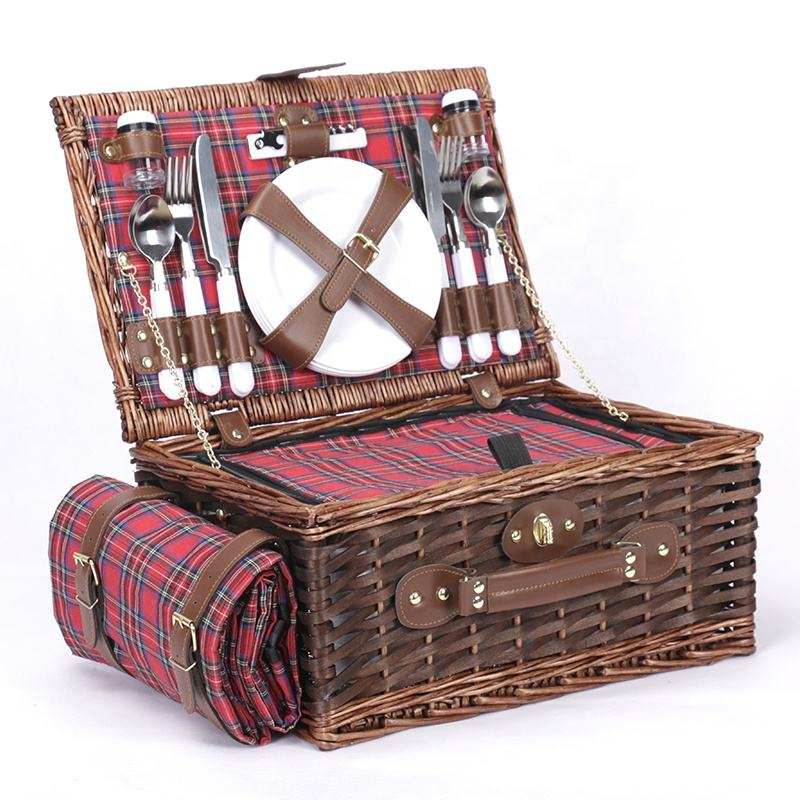 Free Sample Hand Made Custom Size Sewing Weaving Wicker Bread Picnic Basket