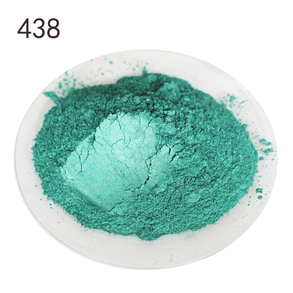 50 g # 438 Fruit Green Coating Pigment Pressed Lipstick Eye Shadow Nail polish Powder Cosmetic Pigment Mica Pearl Powder