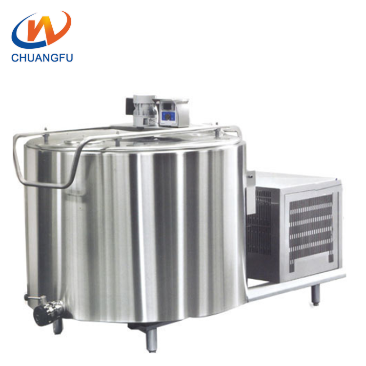 Factory customized stainless steel 500l milk cooling tank for sale
