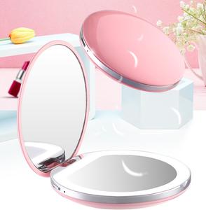 iSuperb Espejo de Bolsillo,LED Port/átil Plegable Espejo Cosm/ético,Espejo de Mano,Espejo Aumento con Doble Cara 3X P/úrpura 1x para Maquillaje,Espejos Peque/ños para Viaje