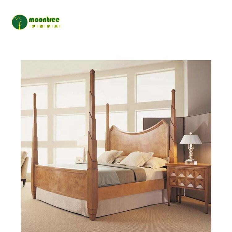 Moontree MBD-1145 bedroom furniture classic design wooden box bed