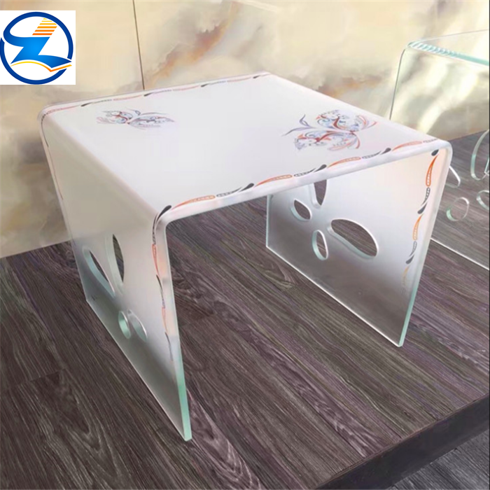 Bent tempered glass panels tv stand modern table Fast delivery