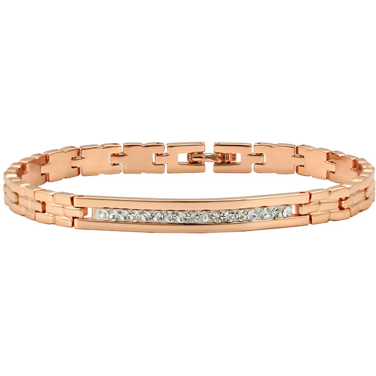 71533 Xuping wholesale fashion new design gold copper jewelry bracelet women, rose gold bangle bracelet