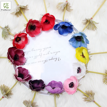 Wholesale Single Anemone Artificial Flower Sale Poppy PU Real Touch Home wedding Table Center Piece Decoration Party Showroom