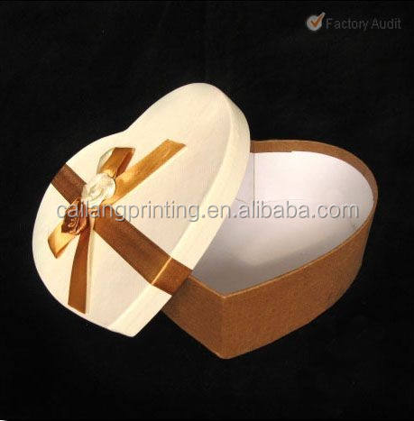 heart shape box with sponge tray for watch packaging from china supplier