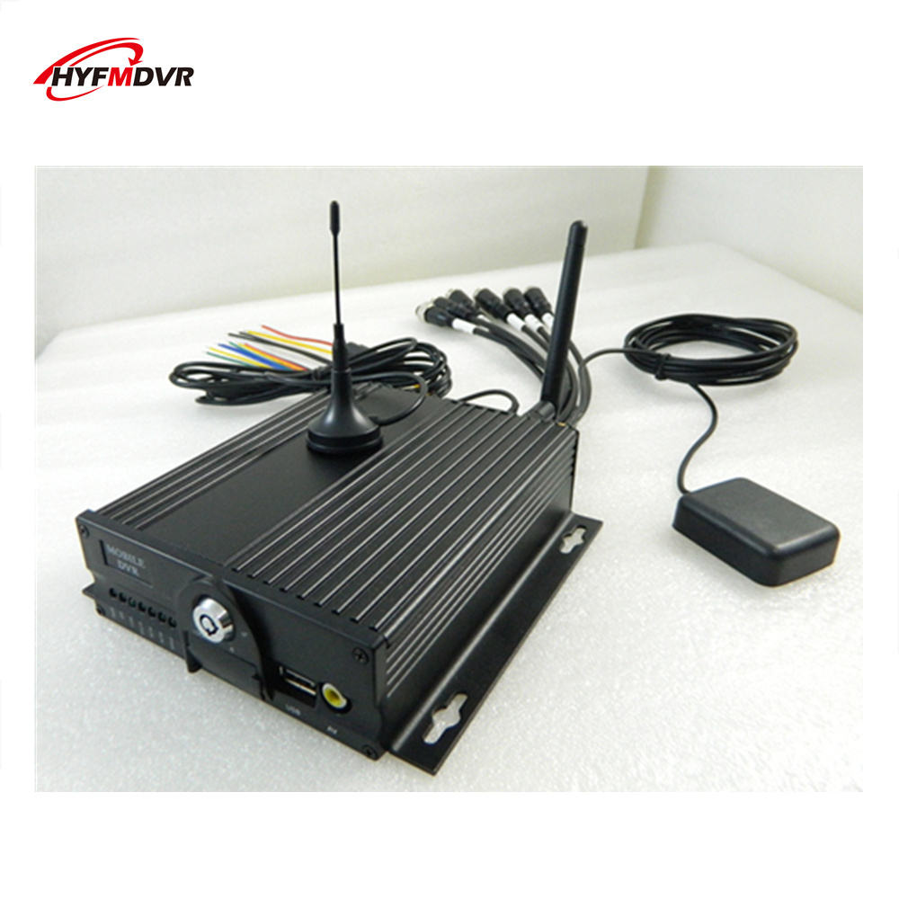 ahd 4 channel dual SD card car video recorder h.264 3g gps wifi monitor host mdvr free postage