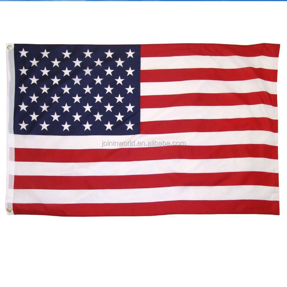100% Polyester 3x5 Feet Printed American Flag Country flag