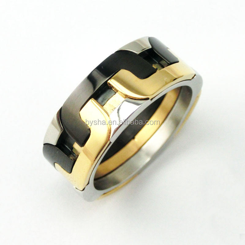 fashion jewelry spin tyre shape finger ring