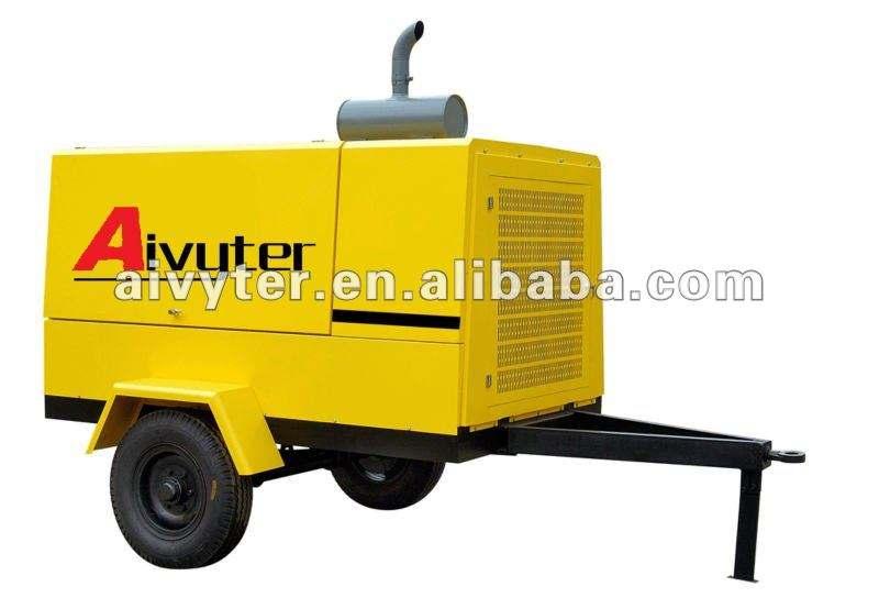 125psi дизельный передвижной отбойного молотка винтовой компрессор для дрели