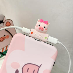 Cute cartoon 2 in 1 audio splitter usb  charge adapter split