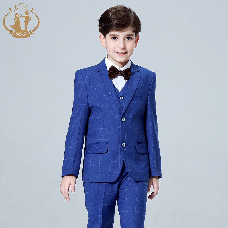Readymade Junior Boy Dress Suits Set Boys Formal Occasion Wear Kids Suits For Wedding