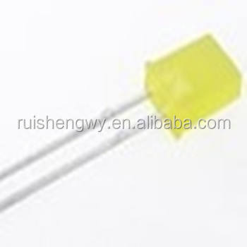 LED 2x5x7mm Retangular Amarelo