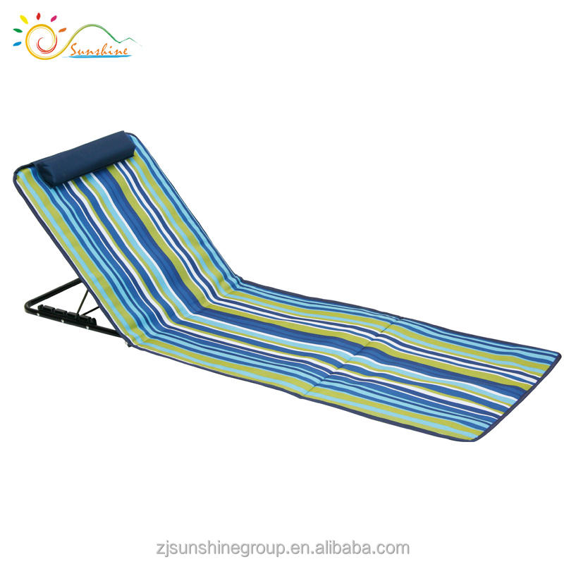 Plegable playa con almohada