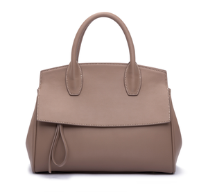 2021 Online With Zipper Popular Professional Custom Designer Ladies Real Plain Camel Leather Tote Bags Ladies Handbag custom