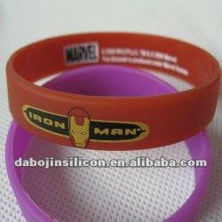 iron man silicone wristbands/bands/bracelet