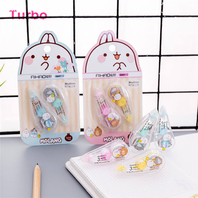 japanese new gifts set stationery school supplies multipurpose plastic colored correction tape for children