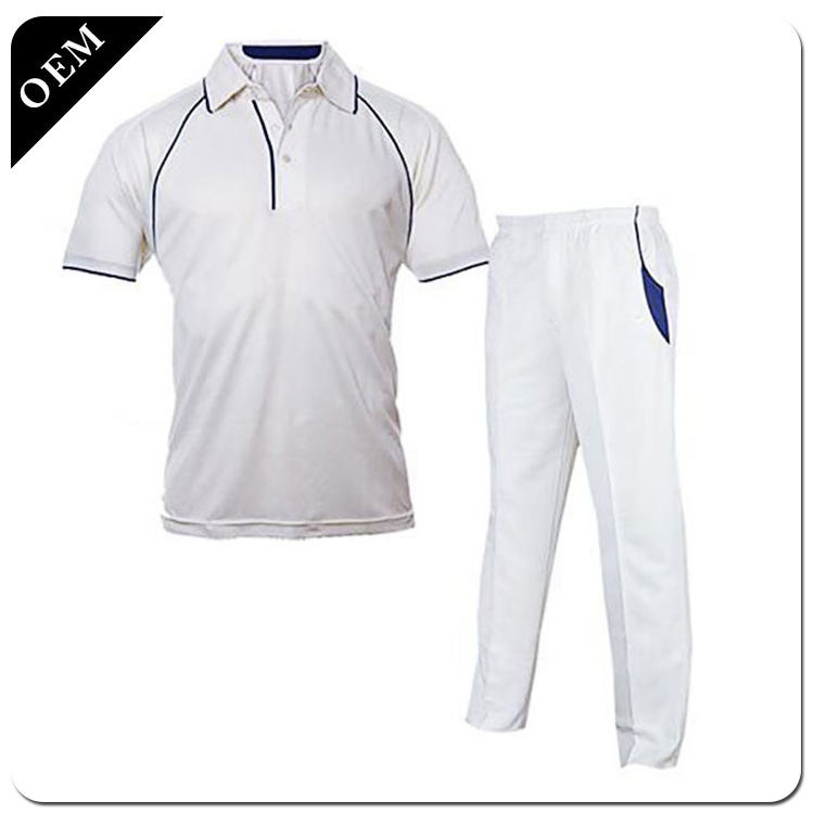 custom cricket jersey/ sublimation cricket shirt/ cricket uniforms white