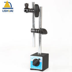 Lishuai On/Off Magnetic Indicator Holder Stand With Double Adjustable Pole for Dial Test Indicator