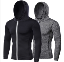 wholesales custom logo workout sports quick dry dri fit clothing gym wear for men zipper fitness shirt hoodies