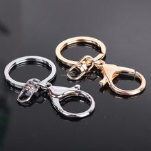 Variety Rhodium color key rings with lobster clasps