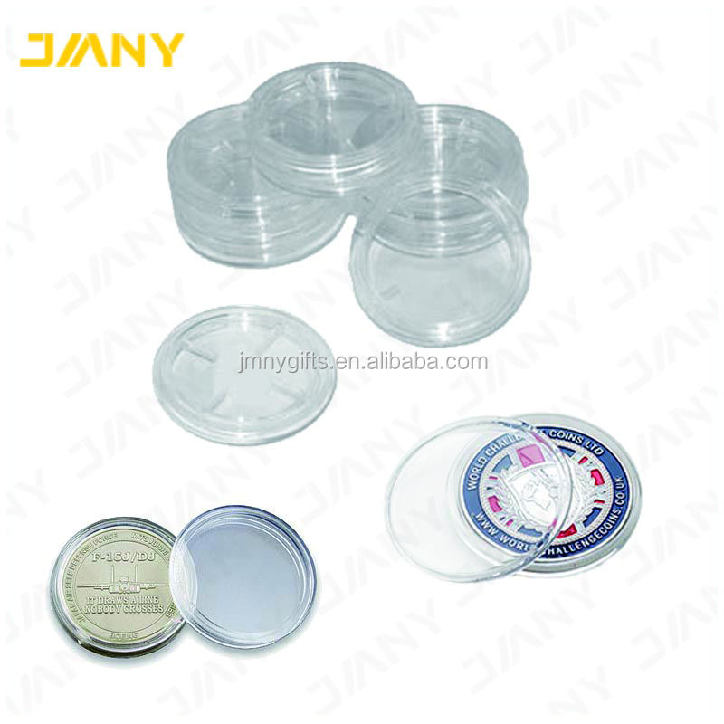 Wholesale Plastic Acrylic Custom Challenge Coin with Coin Capsules