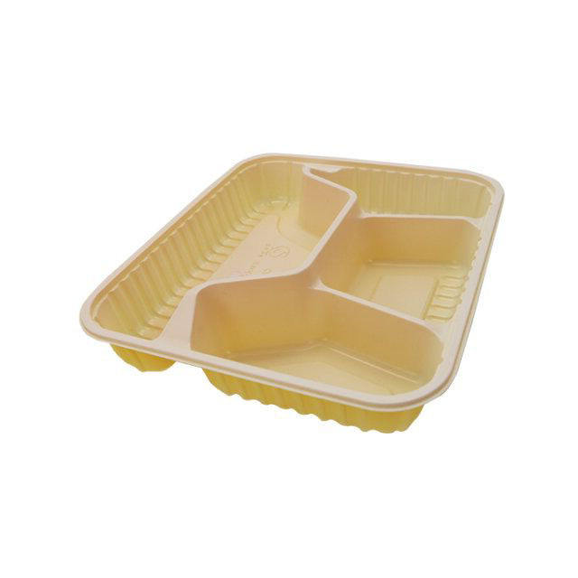 High quality PP easy to carry bento plastic blister tray partition lunch box